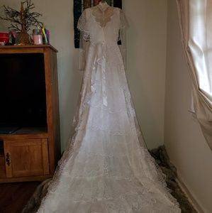 Vintage Alfred Angelo Victorian Lace Wedding Dress